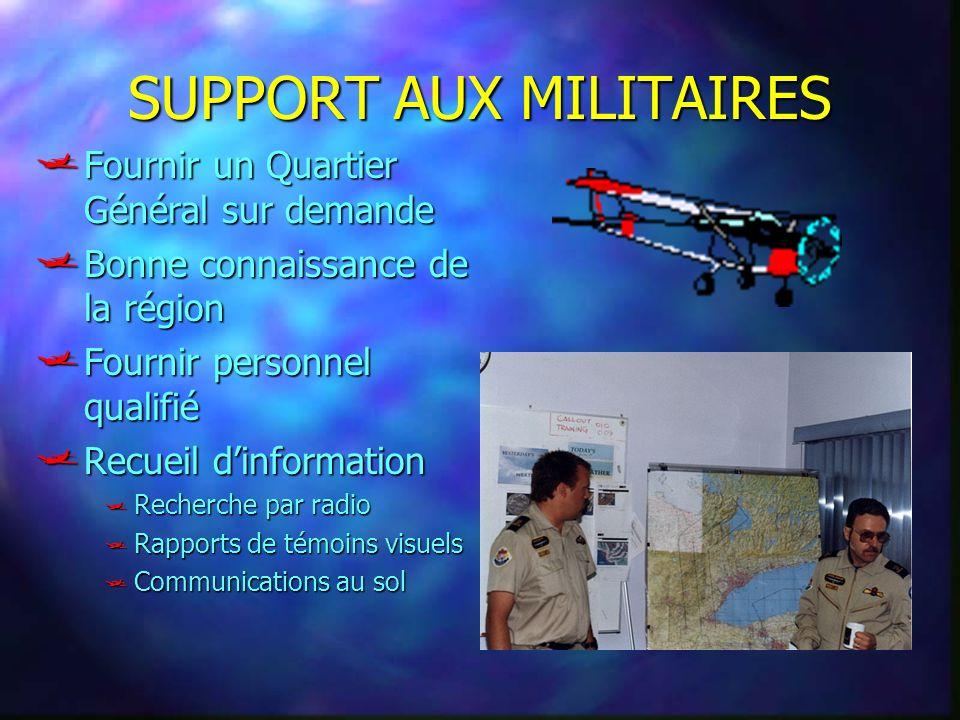 SUPPORT AUX MILITAIRES