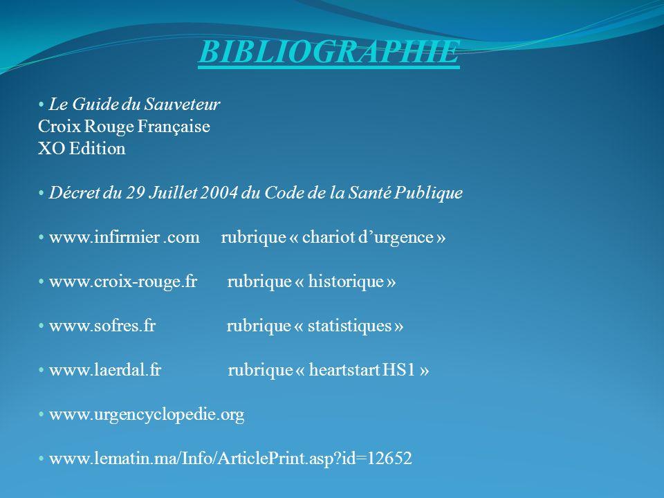 BIBLIOGRAPHIE Le Guide du Sauveteur Croix Rouge Française XO Edition