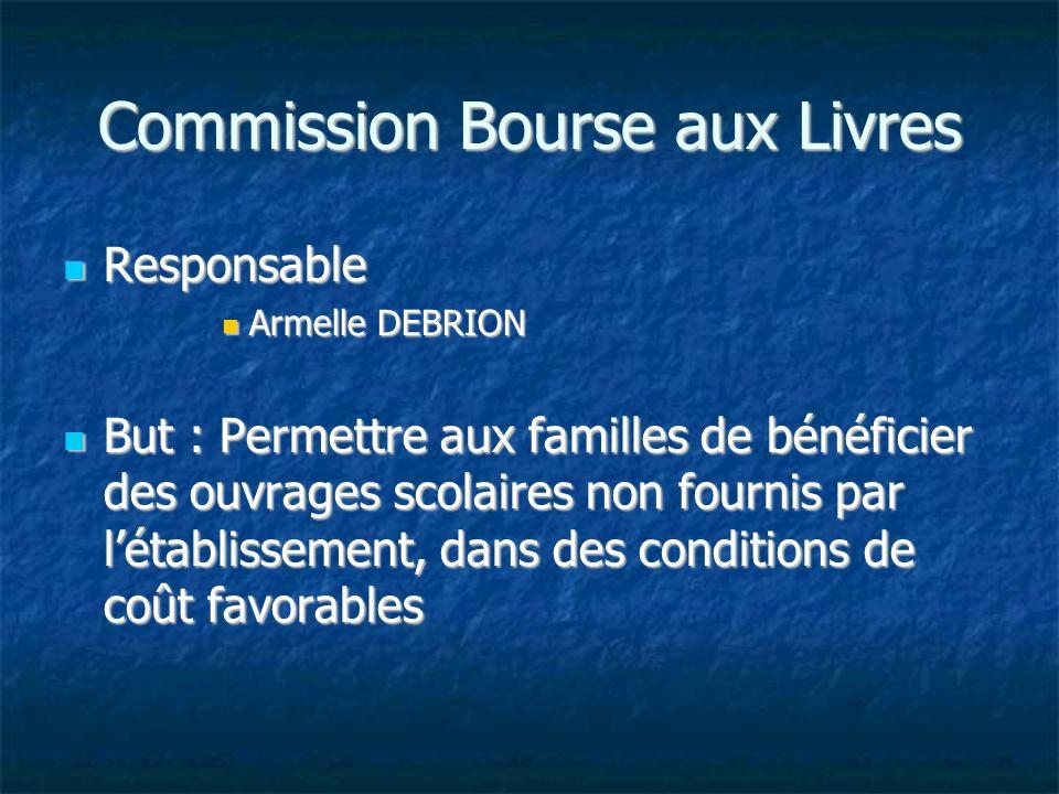 Commission Bourse aux Livres