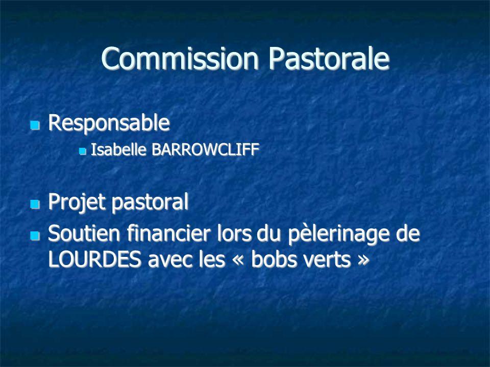 Commission Pastorale Responsable Projet pastoral