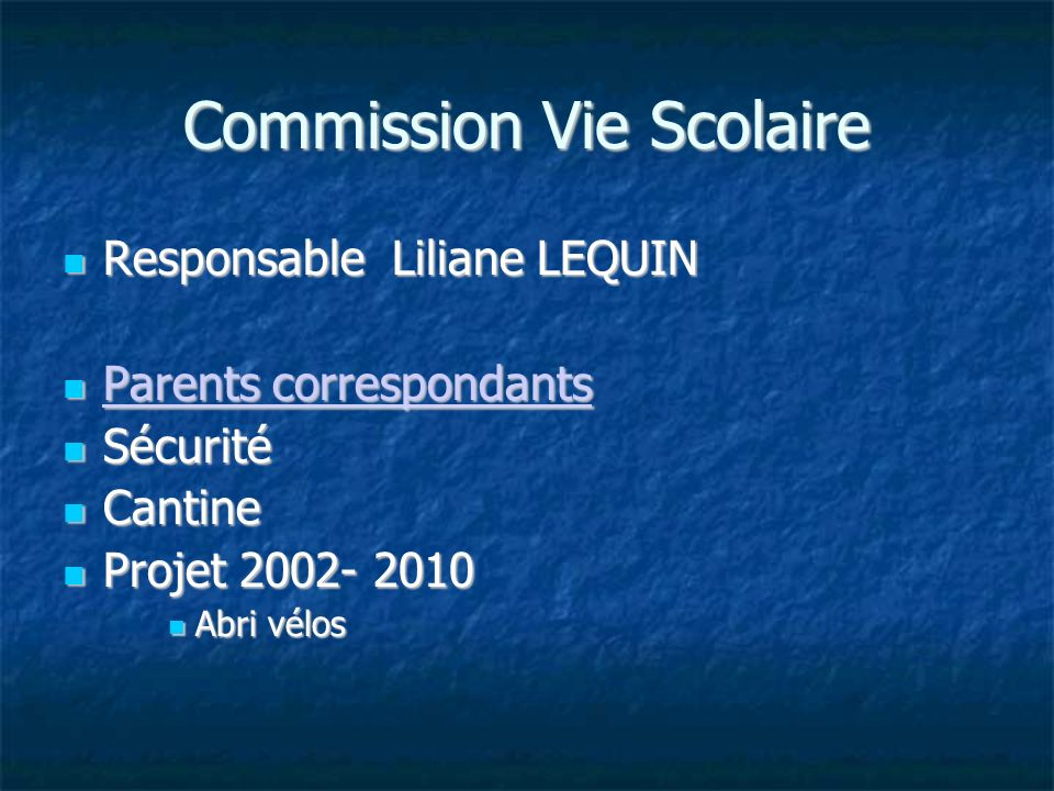 Commission Vie Scolaire
