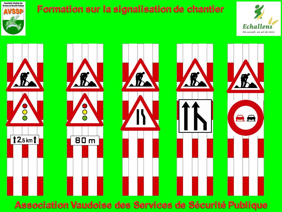 Formation sur la signalisation de chantier