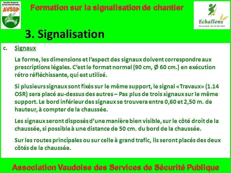 3. Signalisation Formation sur la signalisation de chantier