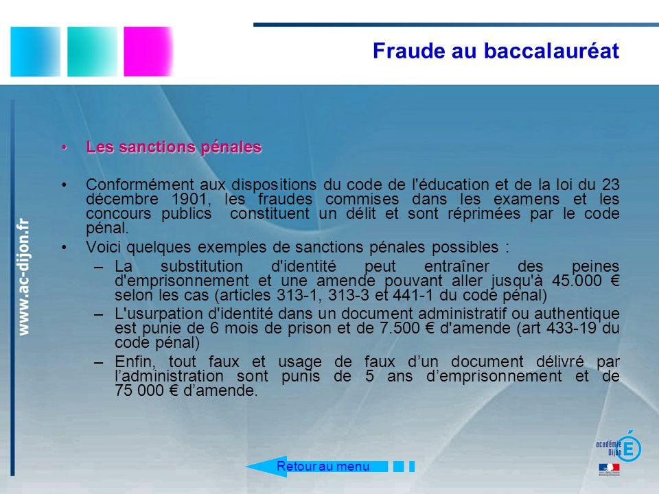 Fraude au baccalauréat