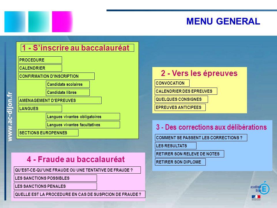 3 - Des corrections aux délibérations 4 - Fraude au baccalauréat