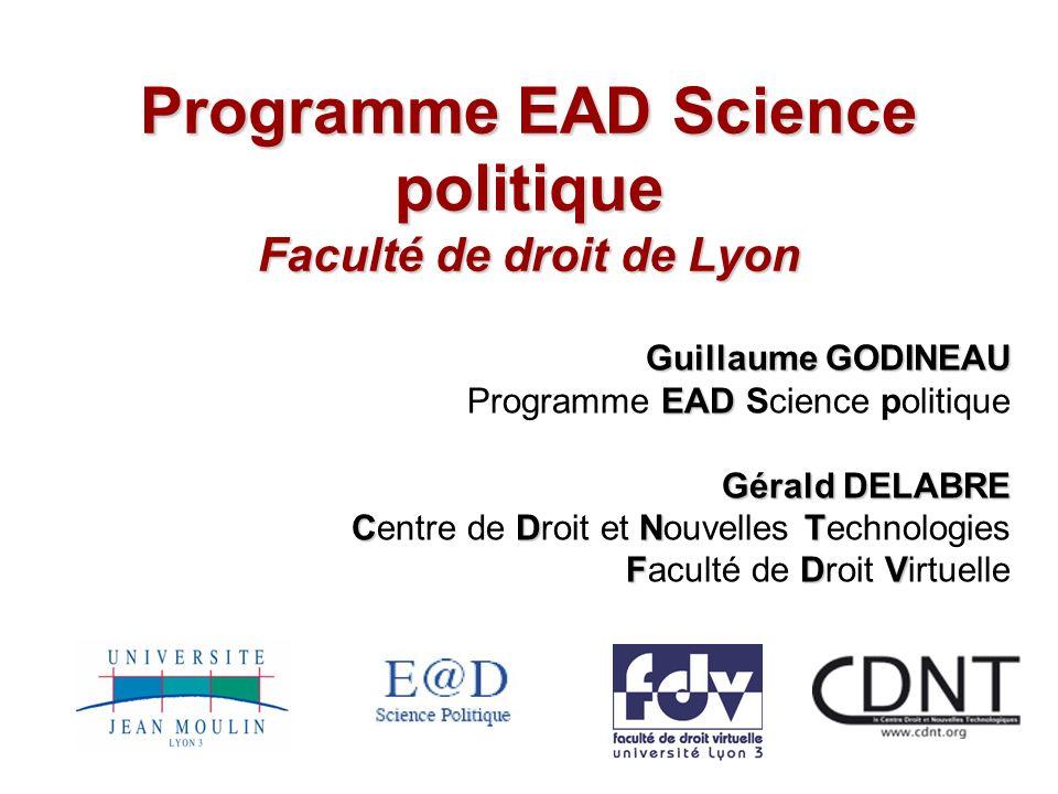 Programme EAD Science politique Faculté de droit de Lyon