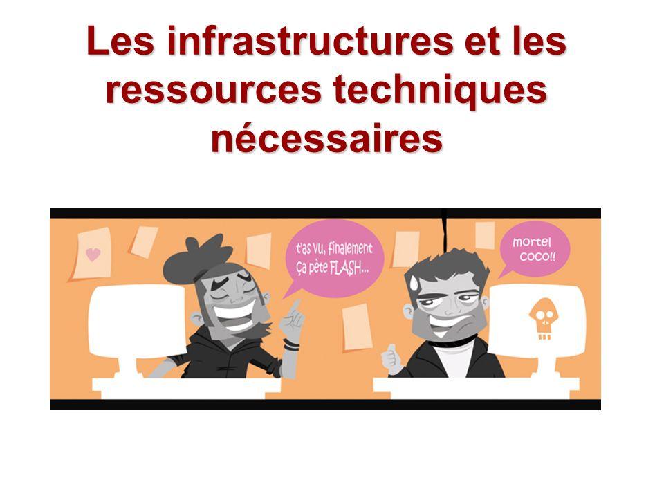 Les infrastructures et les ressources techniques nécessaires