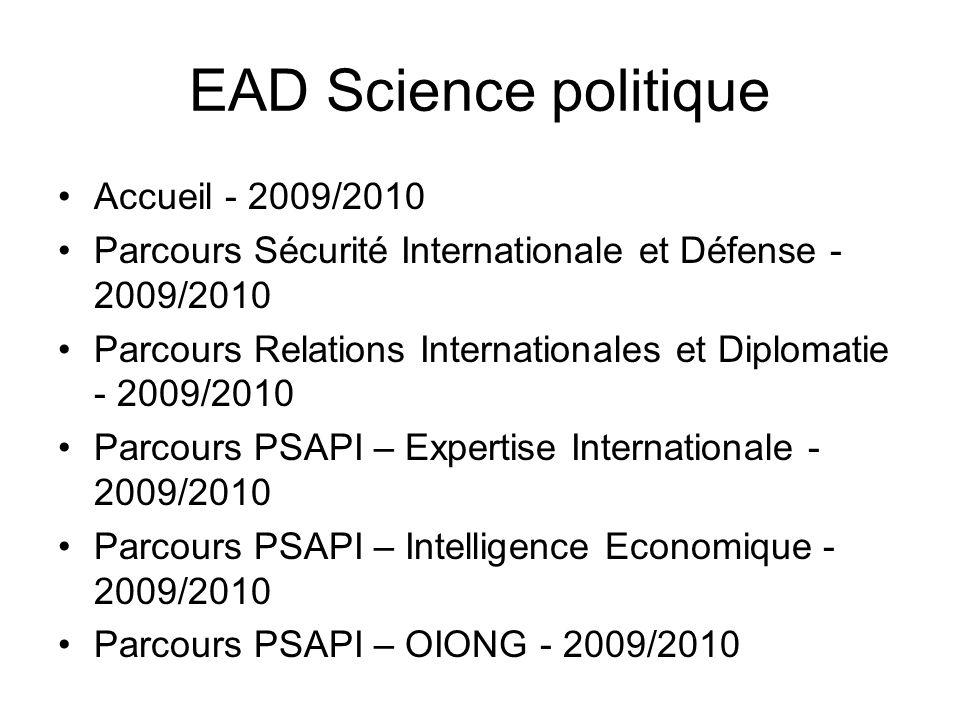 EAD Science politique Accueil - 2009/2010