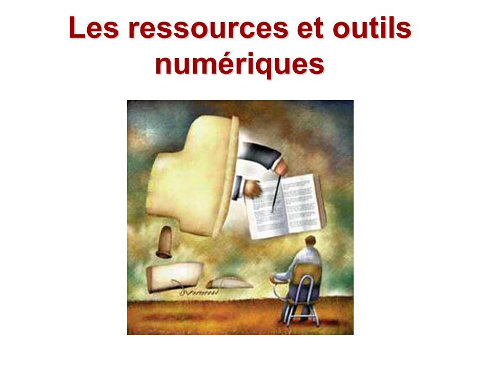 Les ressources et outils numériques