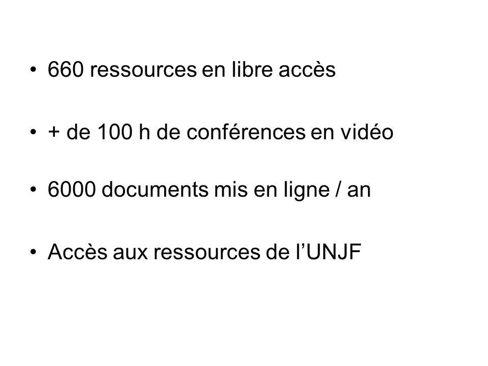 660 ressources en libre accès