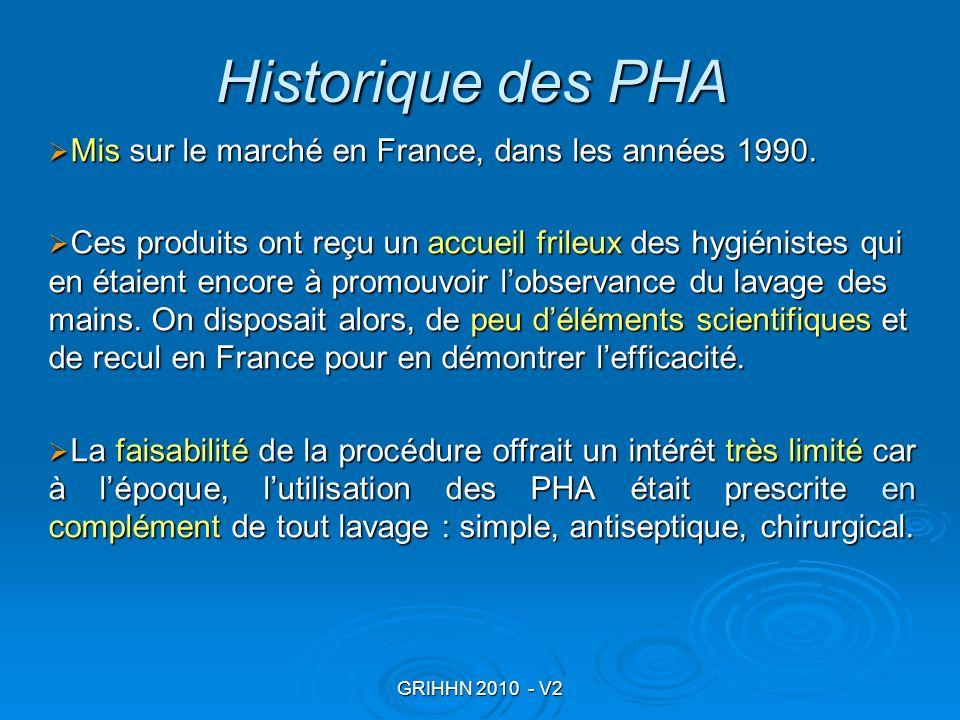 Historique des PHA Mis sur le marché en France, dans les années 1990.