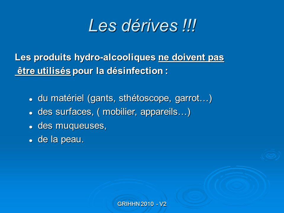 Les dérives !!! Les produits hydro-alcooliques ne doivent pas