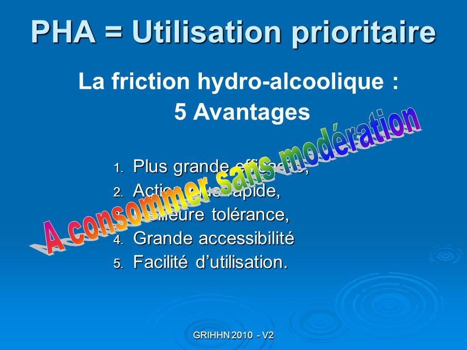 PHA = Utilisation prioritaire