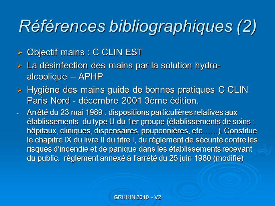 Références bibliographiques (2)