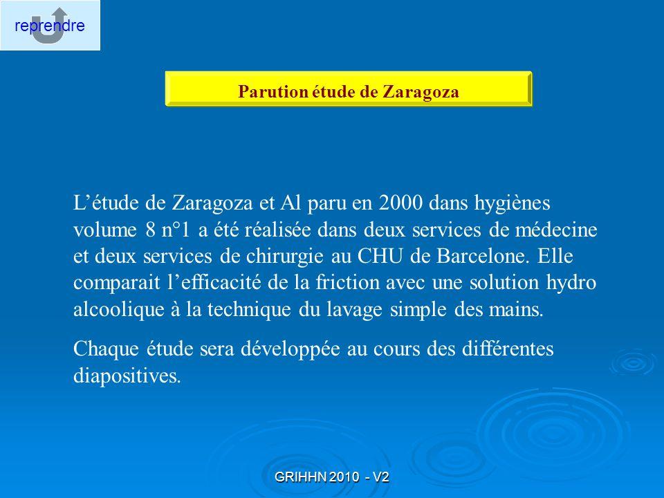 Parution étude de Zaragoza