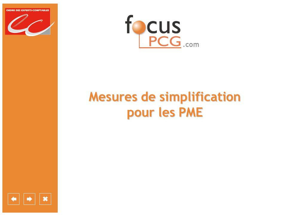 Mesures de simplification pour les PME