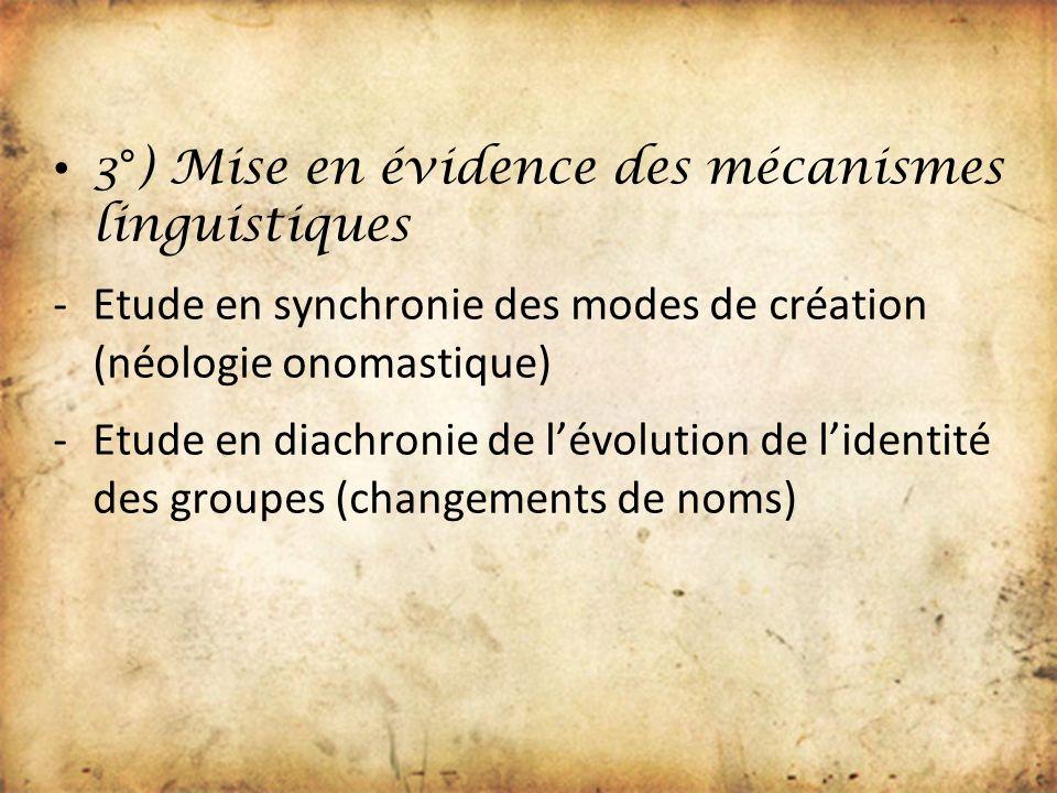 3°) Mise en évidence des mécanismes linguistiques