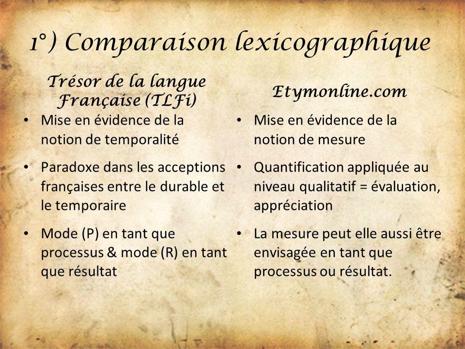 1°) Comparaison lexicographique