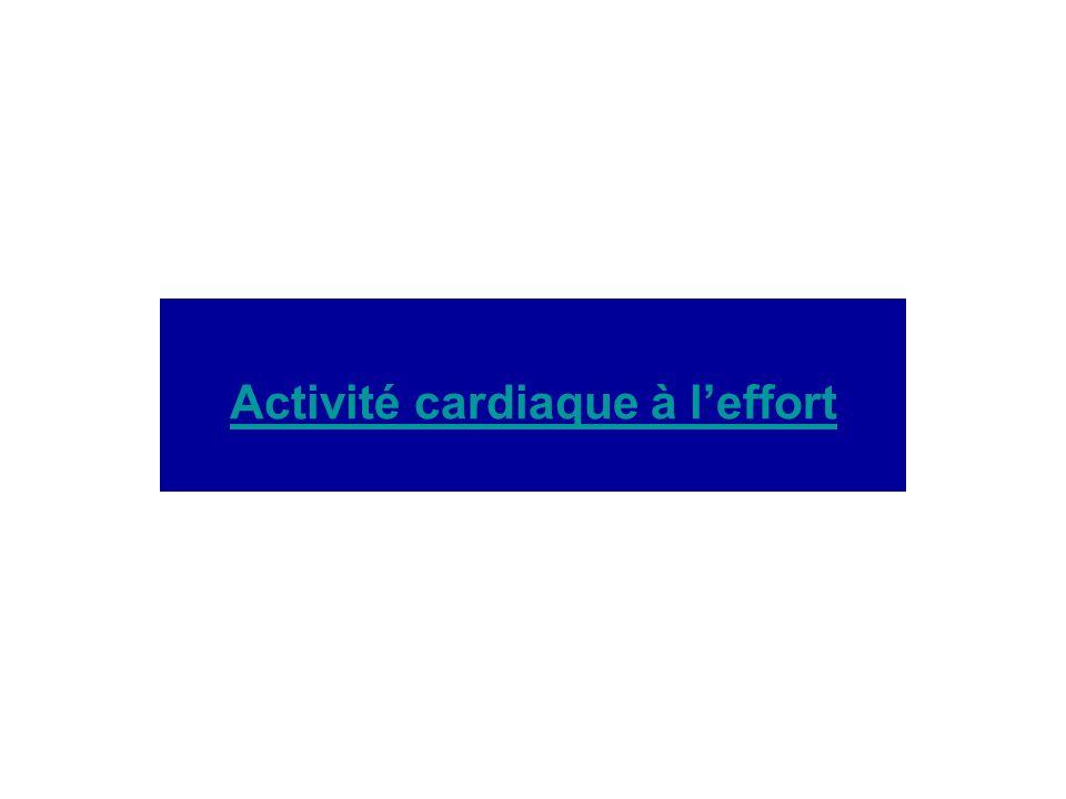 Activité cardiaque à l'effort