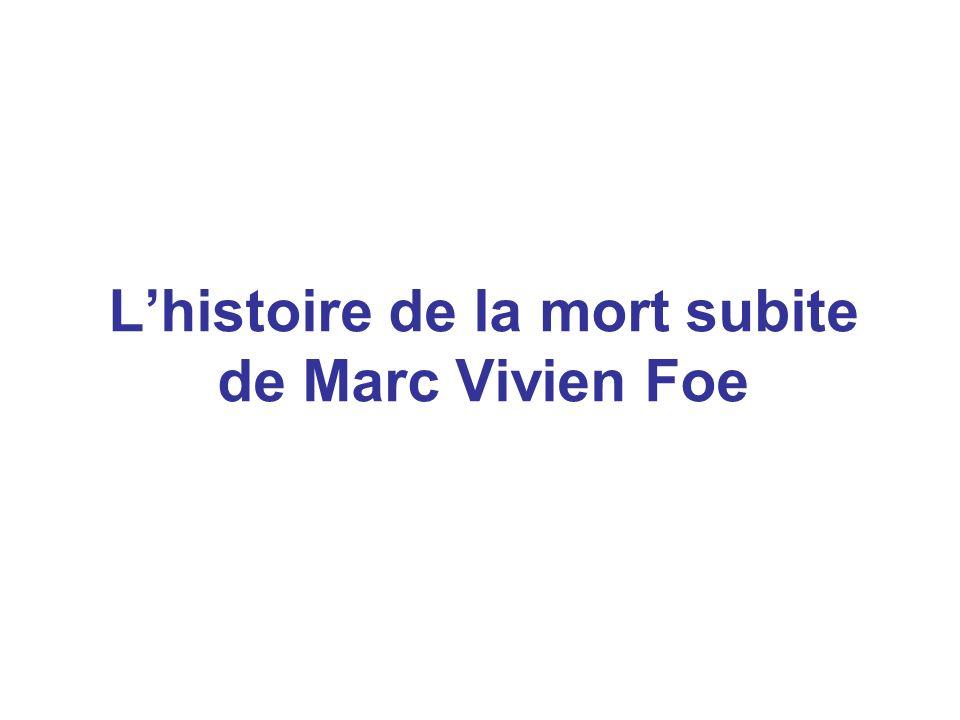 L'histoire de la mort subite de Marc Vivien Foe