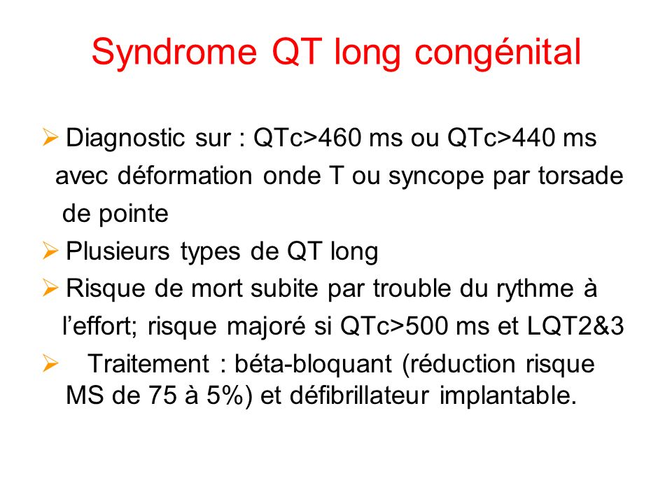 Syndrome QT long congénital