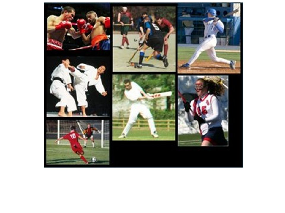 Sports: Projectiles (baseball, hockey).