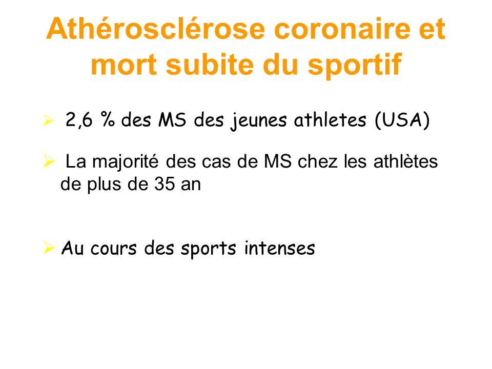 Athérosclérose coronaire et mort subite du sportif