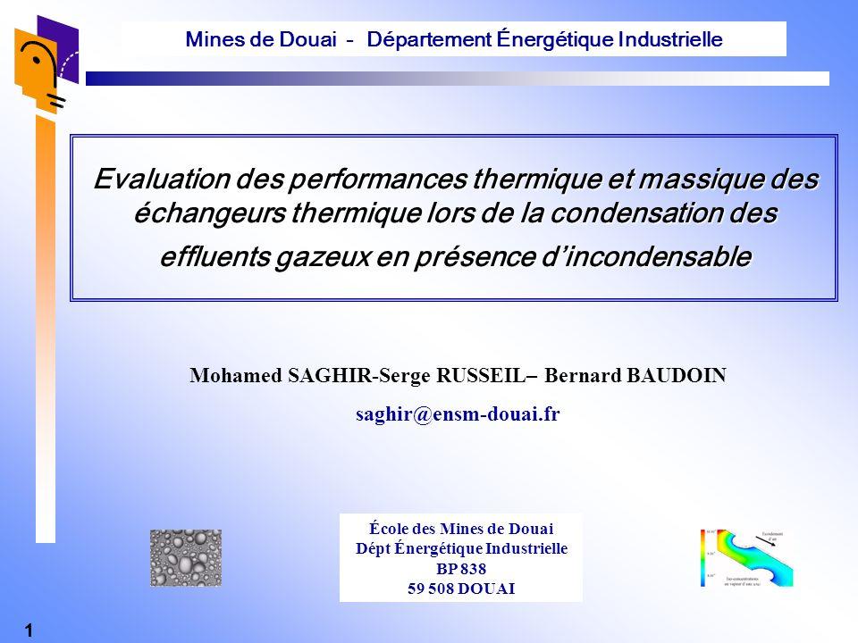 Mines de Douai - Département Énergétique Industrielle