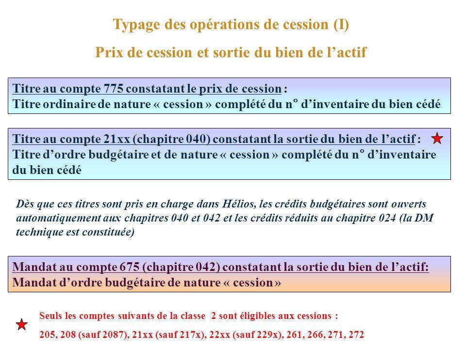 Typage des opérations de cession (I)