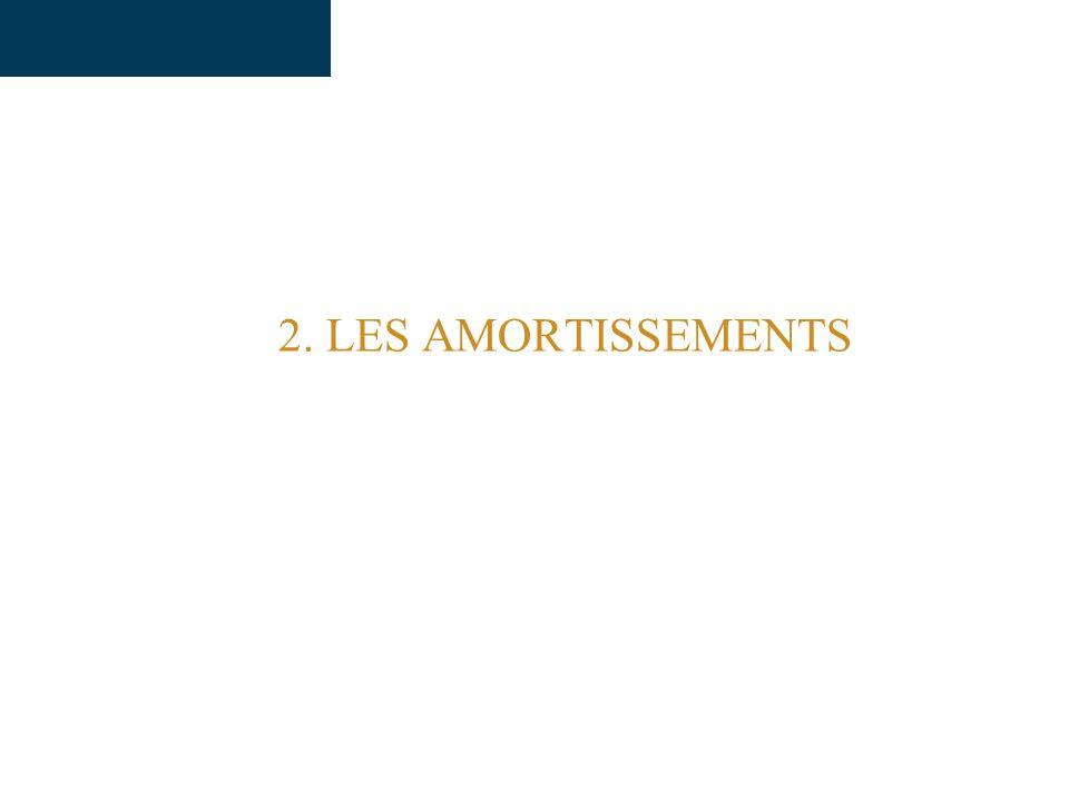 2. LES AMORTISSEMENTS