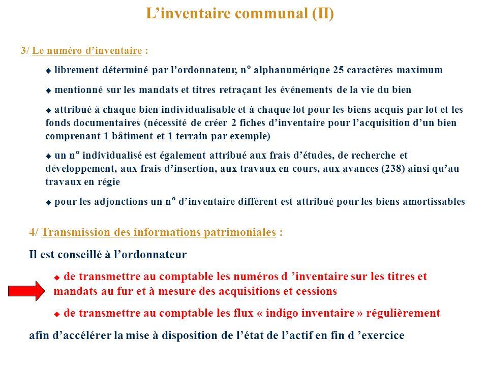 L'inventaire communal (II)
