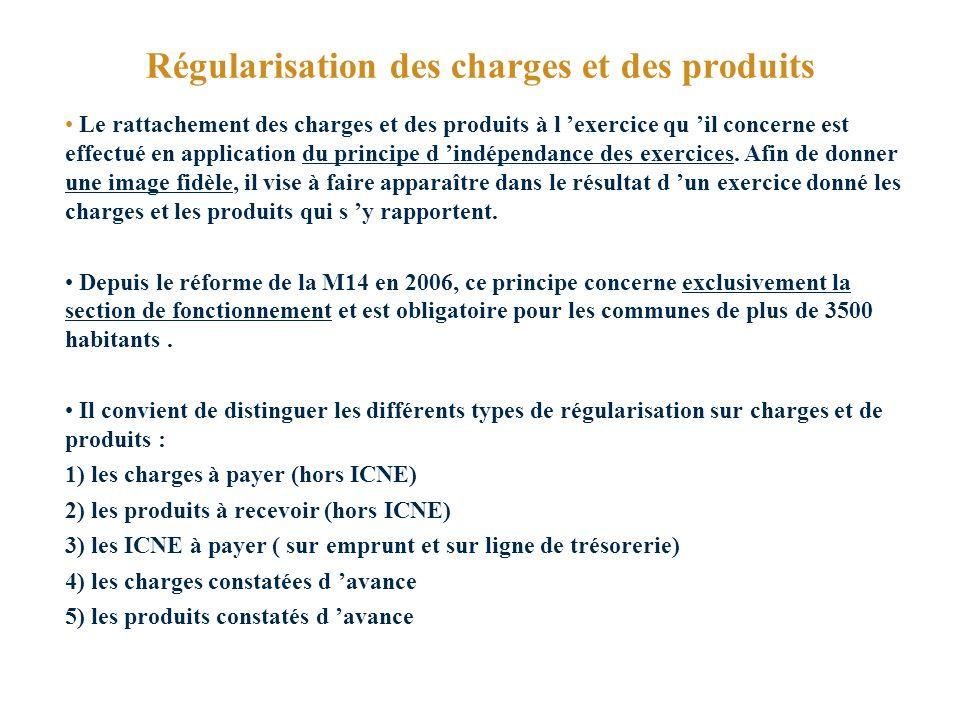 Régularisation des charges et des produits