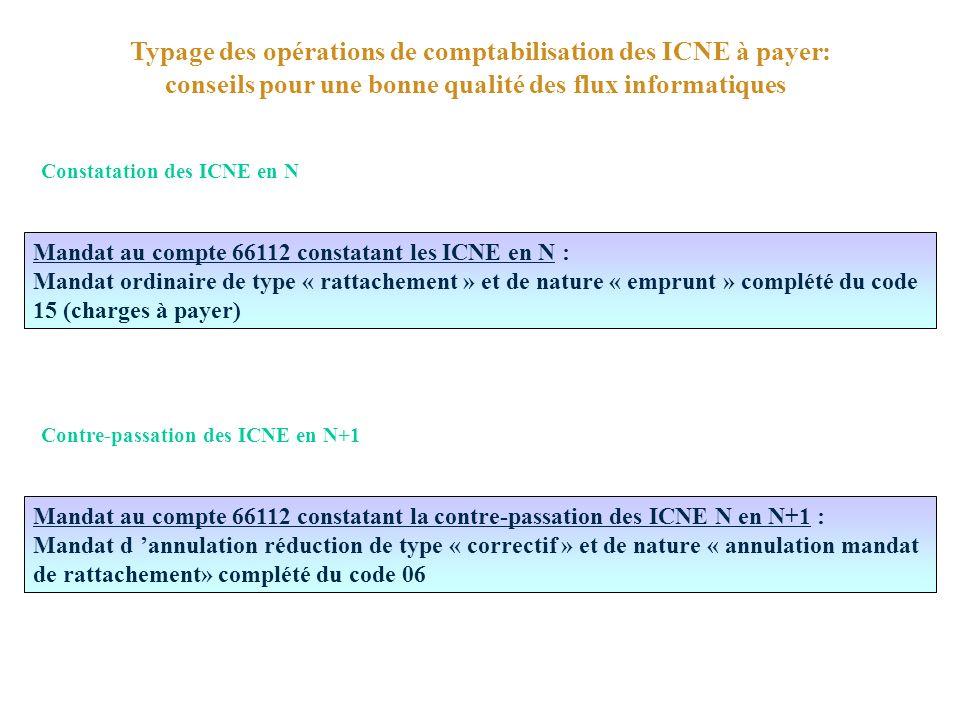Typage des opérations de comptabilisation des ICNE à payer: conseils pour une bonne qualité des flux informatiques
