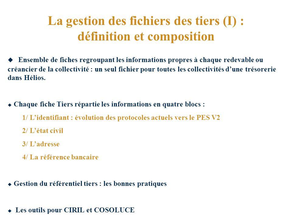 La gestion des fichiers des tiers (I) : définition et composition