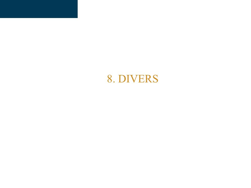 8. DIVERS