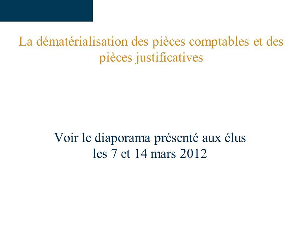 Voir le diaporama présenté aux élus les 7 et 14 mars 2012