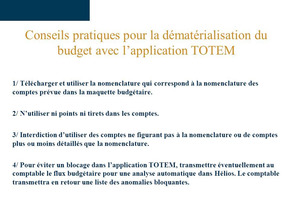 Conseils pratiques pour la dématérialisation du budget avec l'application TOTEM