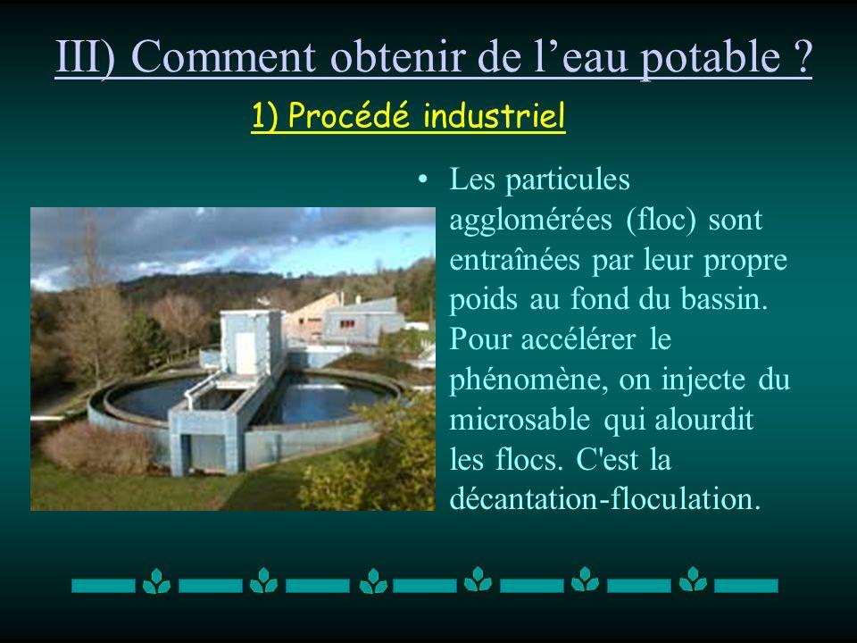 III) Comment obtenir de l'eau potable