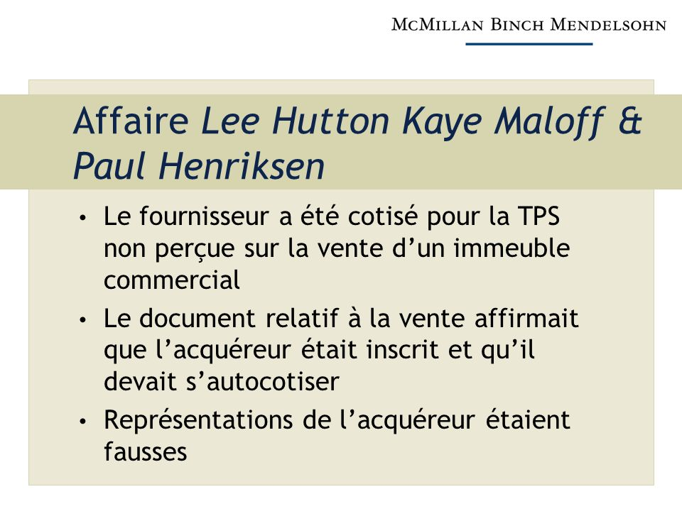 Affaire Lee Hutton Kaye Maloff & Paul Henriksen