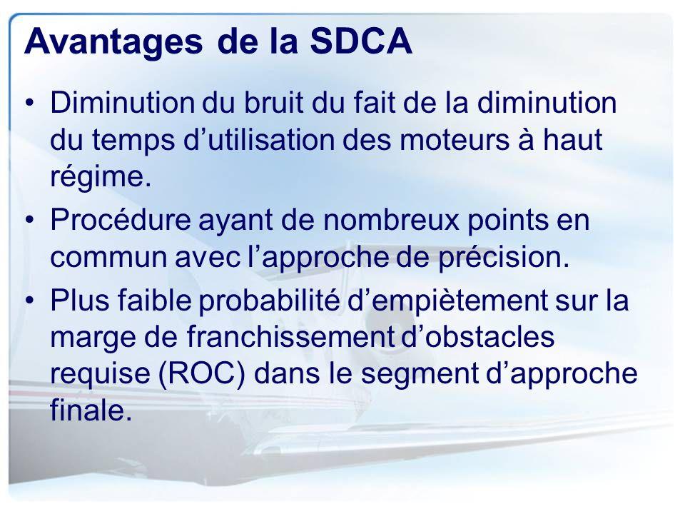 Avantages de la SDCA Diminution du bruit du fait de la diminution du temps d'utilisation des moteurs à haut régime.