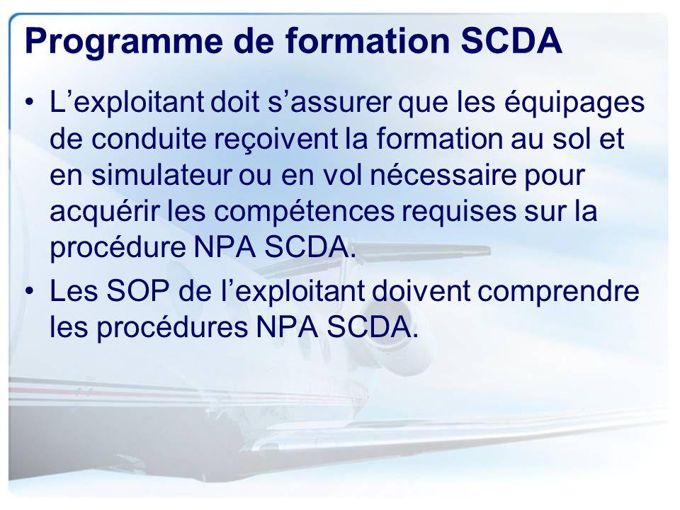Programme de formation SCDA