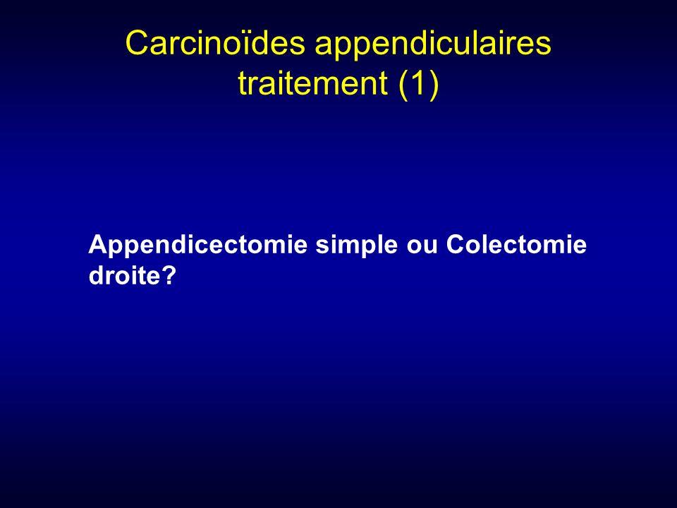 Carcinoïdes appendiculaires traitement (1)