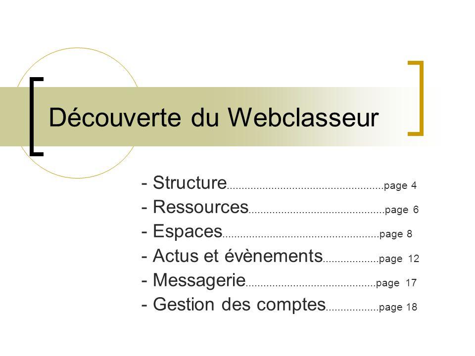Découverte du Webclasseur