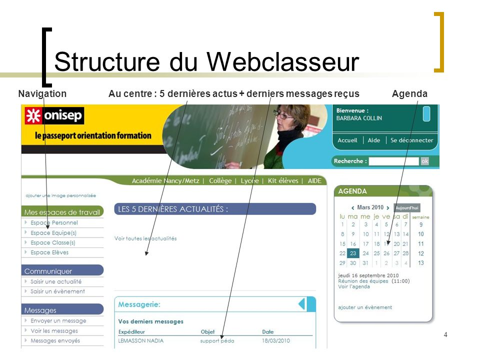 Structure du Webclasseur