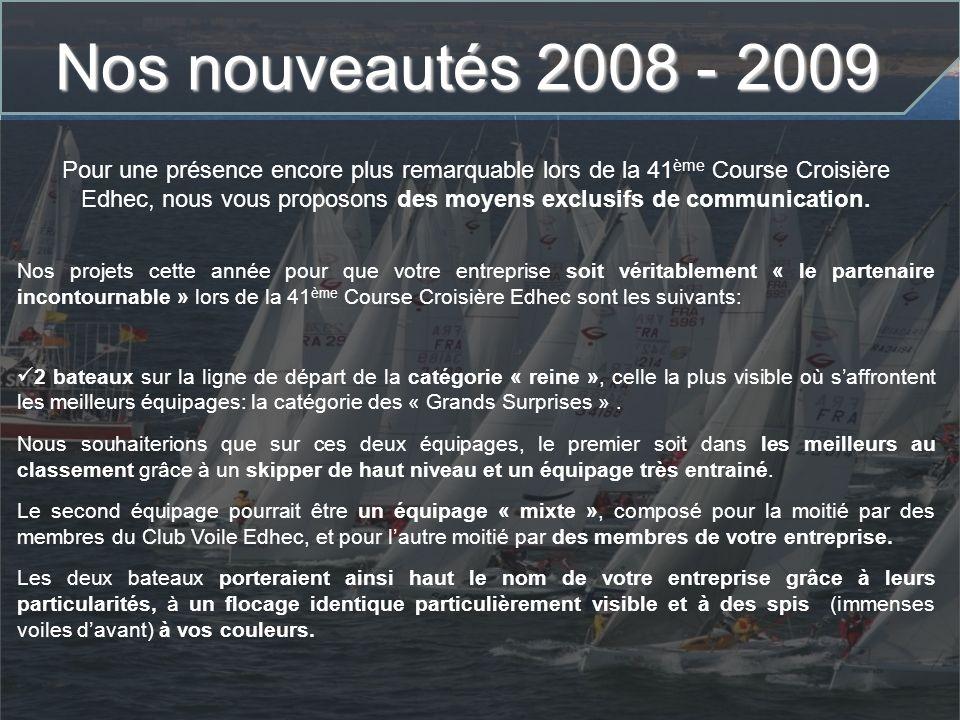 Nos nouveautés 2008 - 2009