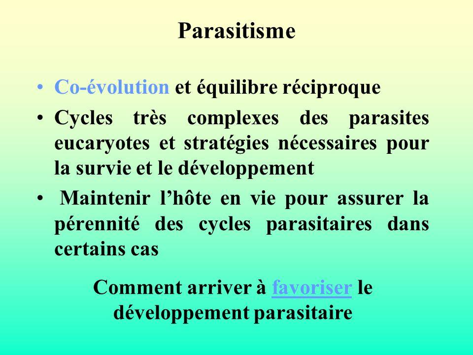 Comment arriver à favoriser le développement parasitaire