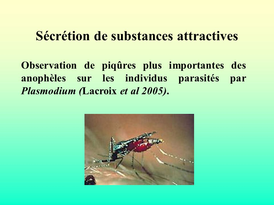 Sécrétion de substances attractives