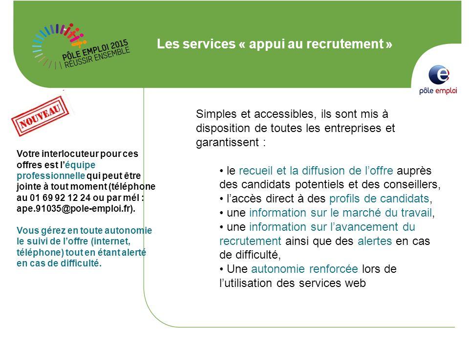 Les services « appui au recrutement »