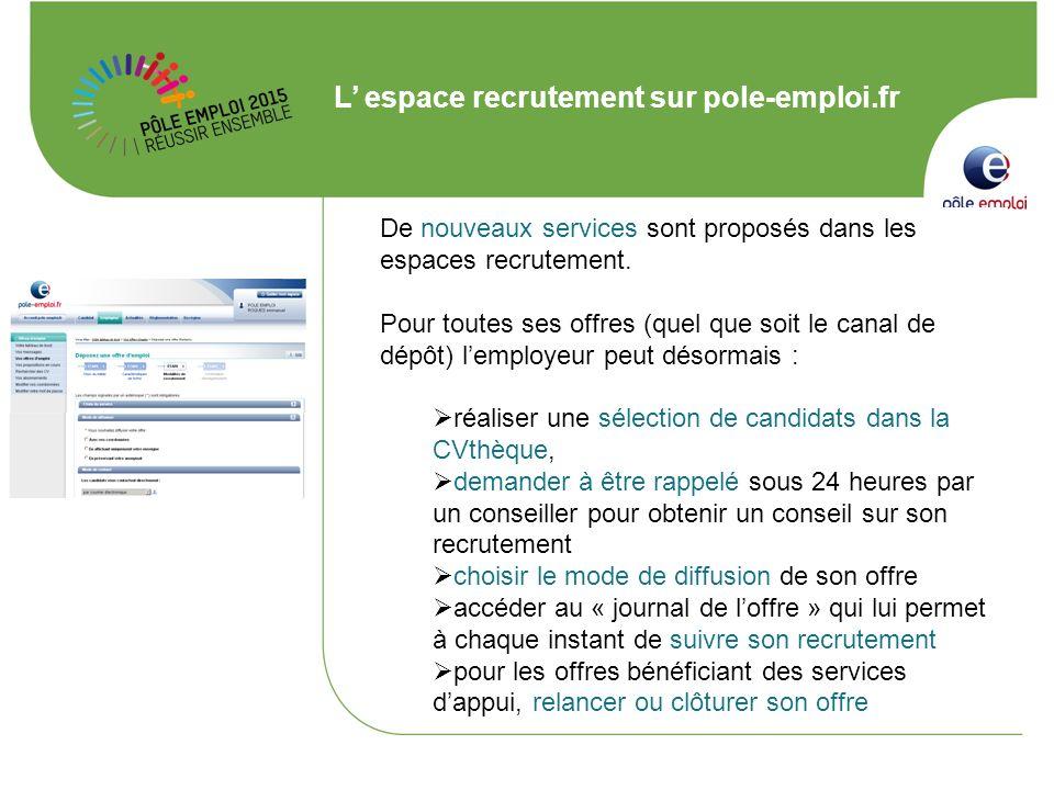 L' espace recrutement sur pole-emploi.fr