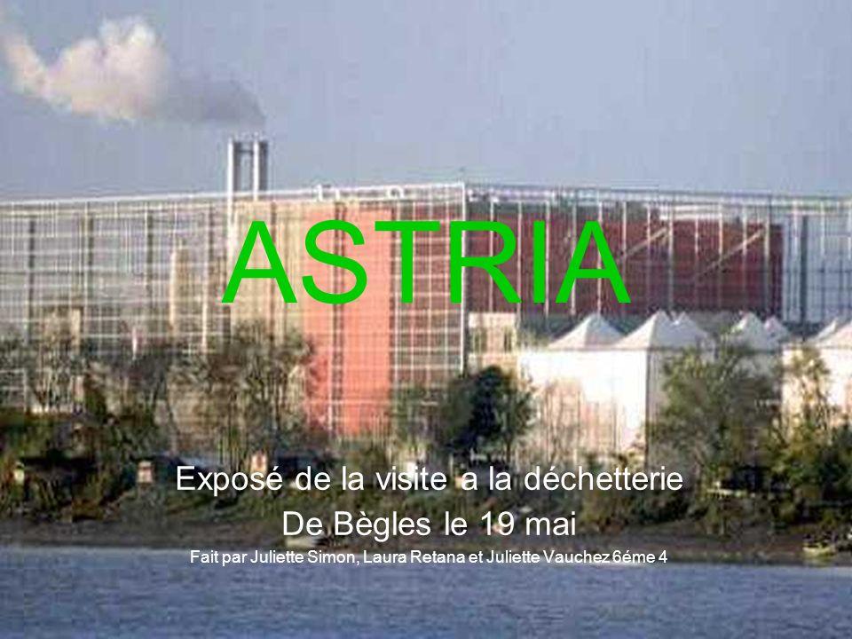 ASTRIA Exposé de la visite a la déchetterie De Bègles le 19 mai